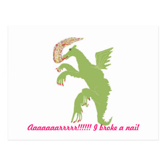 Dragon with a broken nail postcard