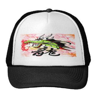 Dragon with Kanji Cap