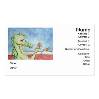 Dragon with Mice Double-Sided Standard Business Cards (Pack Of 100)