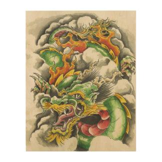 Dragon Wooden Print