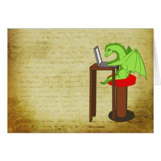 Dragon words greeting card