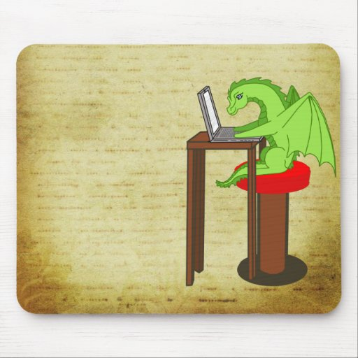 Dragon words mouse pads