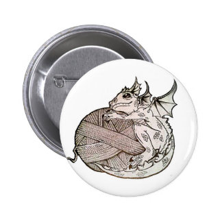 dragon yarn 6 cm round badge