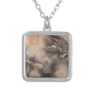 Dragon Year Chinese Zodiac sign Square Necklace