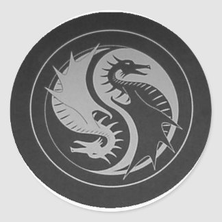 Dragon Yin/Yang Sticker