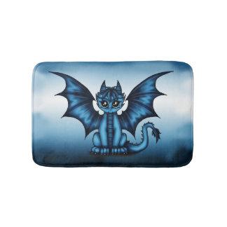 Dragonbaby blue bath mat