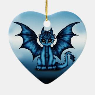 Dragonbaby blue ceramic ornament