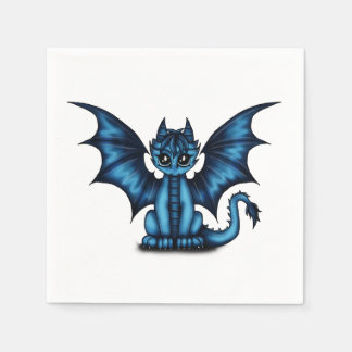 Dragonbaby blue disposable napkins
