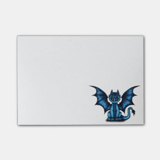 Dragonbaby blue post-it notes
