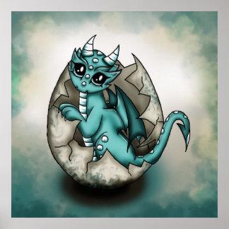 Dragonbaby in egg poster