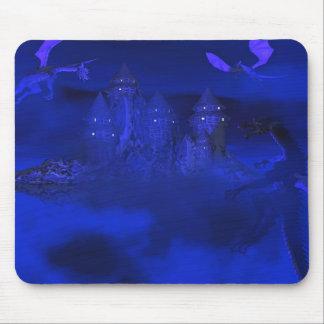 Dragoncats Blue Mist Dragon Fantasy Mousepad
