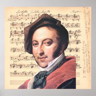Dragonetti ~ Gioachino Rossini w/ Sheet Music Back Poster