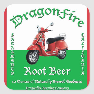 DragonFire Root Beer stickers