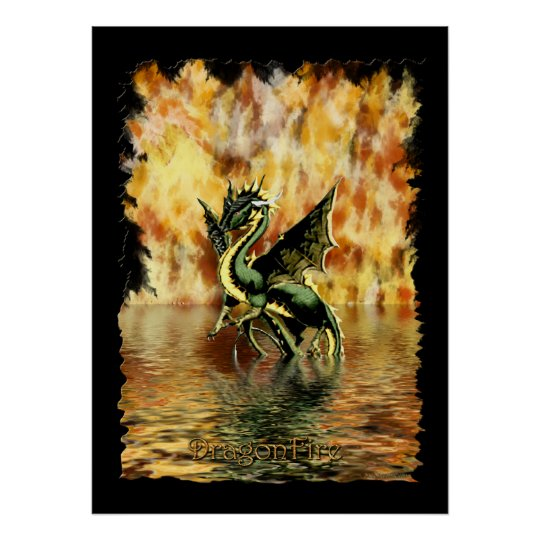 DRAGONFIRE the Dragon Art Poster