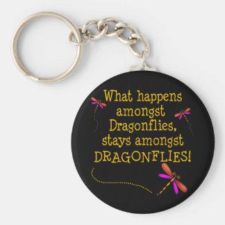 Dragonflies Basic Round Button Key Ring
