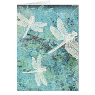 Dragonflies, Damselflies, Flowers Greeting Cards