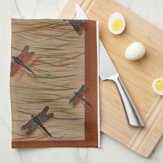 "dragonflies ""Dancing in the Marsh"" Towel"