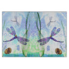 Dragonflies Decorative Glass Cutting Board