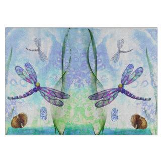Dragonflies Decorative Glass Cutting Board