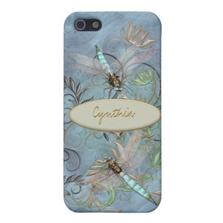 Dragonflies Floral Flourish Color Changing base iPhone 5/5S Cover