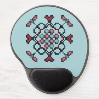 Dragonflies, Hearts and Circles Gel Mouse Pad