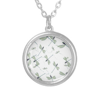 dragonflies in the sun silver plated necklace