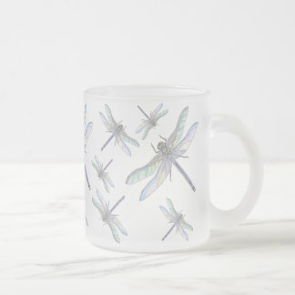 DRAGONFLIES mug (frosted glass)