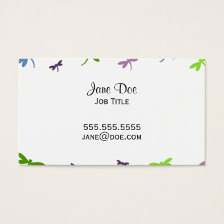 Dragonflies Pattern - Blue, Green, and Purple Business Card