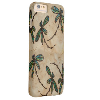 Dragonflies Rustic Cream Barely There iPhone 6 Plus Case