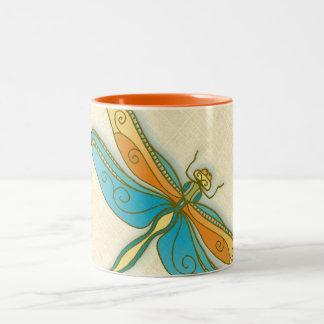 Dragonfly 11 oz Two-Tone Mug