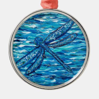 Dragonfly 2 metal ornament