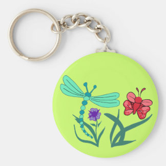 Dragonfly and Butterfly Key Ring