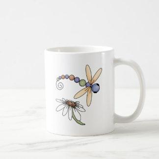 Dragonfly and Flower Mug
