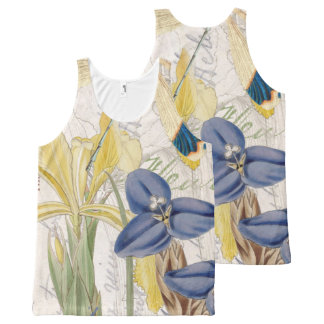 Dragonfly and Irises All-Over Print Singlet