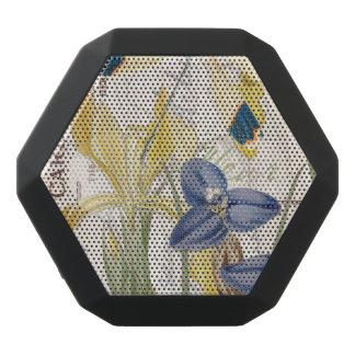 Dragonfly and Irises Black Bluetooth Speaker