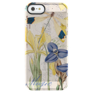 Dragonfly and Irises Clear iPhone SE/5/5s Case