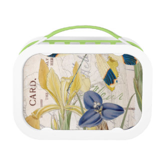 Dragonfly and Irises Lunch Box