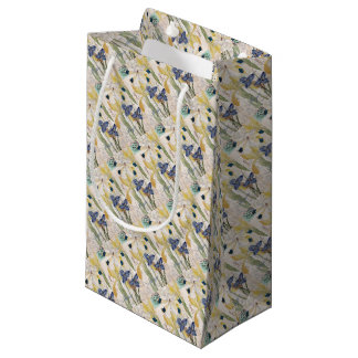 Dragonfly and Irises Small Gift Bag