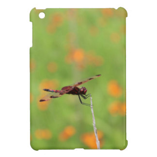Dragonfly and Orange Flowers Case For The iPad Mini