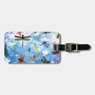 dragonfly art nola kelsey luggage tag