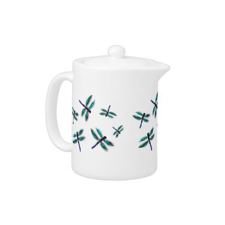 Dragonfly Art Tea Set