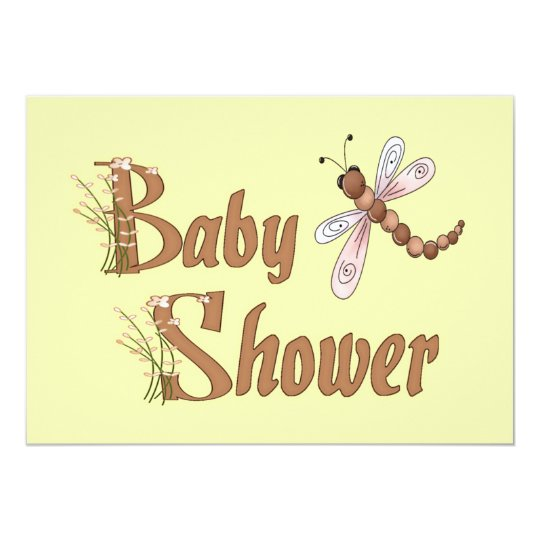 Dragonfly Baby Shower Invitation