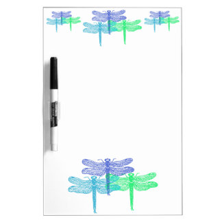 Dragonfly Blues Dry Erase Board