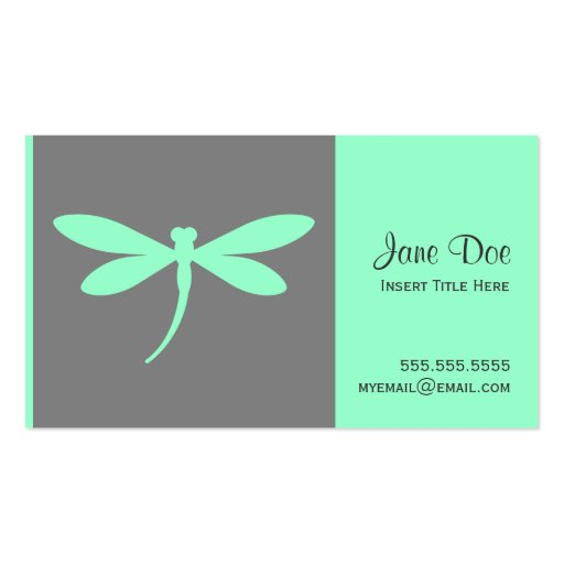Dragonfly Business Card - Custom Accent Color