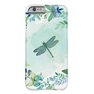 Dragonfly Butterflies And Flowers Barely There iPhone 6 Case