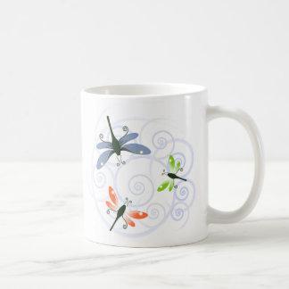 dragonfly curl coffee mug