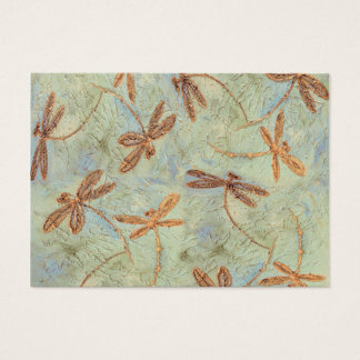 Dragonfly Dance Gold Business Card