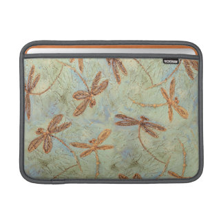 Dragonfly Dance Gold MacBook Sleeve