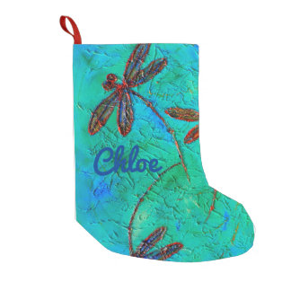 Dragonfly Dance Small Christmas Stocking
