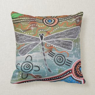 Dragonfly Dreaming Cushion Pillow